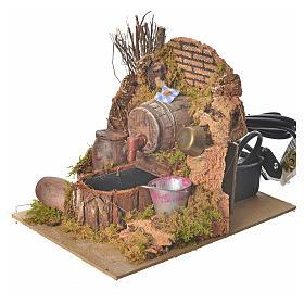 Nativity setting, tavern with pump 20x14x16cm s2