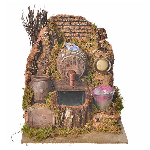 Nativity setting, tavern with pump 20x14x16cm 1