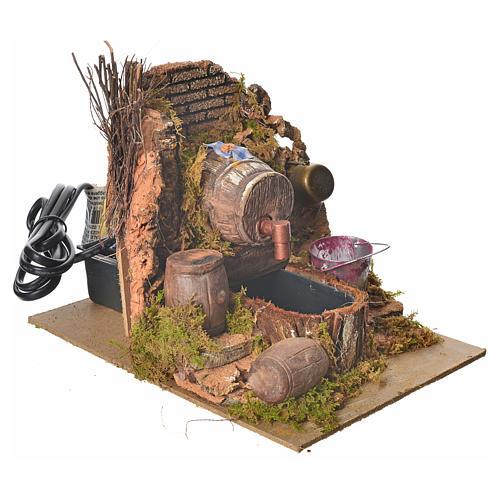 Nativity setting, tavern with pump 20x14x16cm 3
