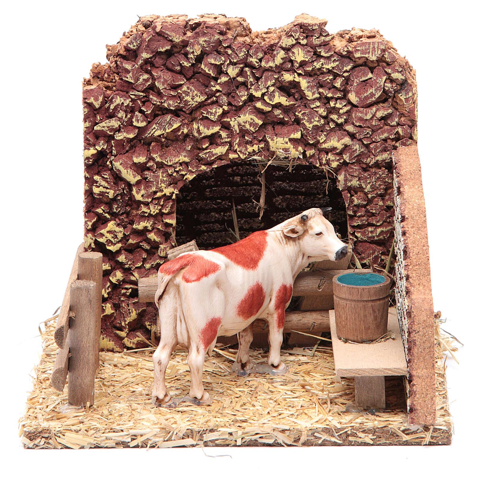 Vaca en el establo escenografía belén 4