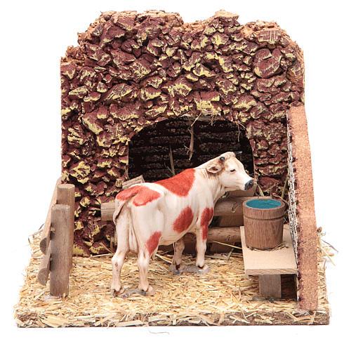 Vaca en el establo escenografía belén 1