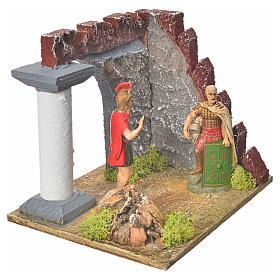 Gardes romaines et colonne décor crèche s3