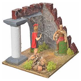 Guardie romane e muro castello, ambiente presepe s3