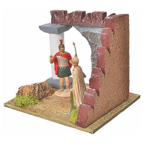 Guardie romane e muro castello, ambiente presepe 2