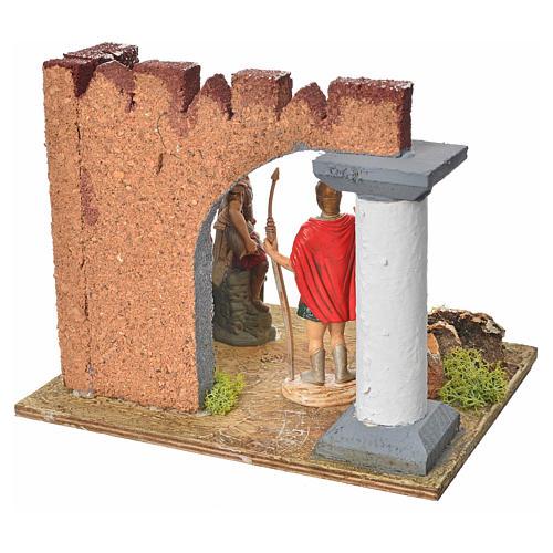 Guardie romane e muro castello, ambiente presepe 4