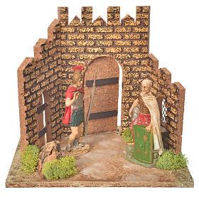 Guardie romane e porta del castello, ambientazione presepe s1