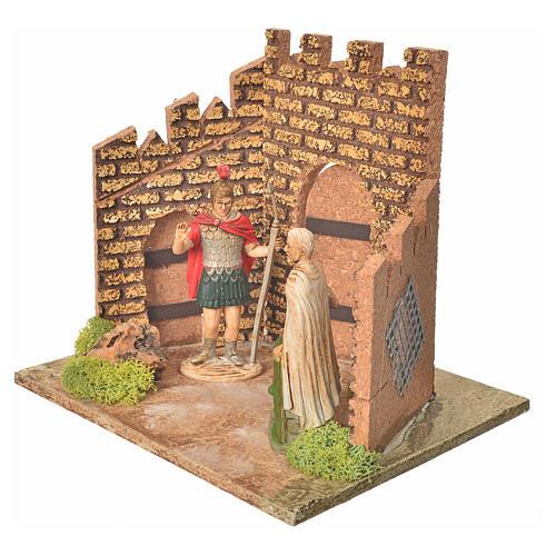 Guardie romane e porta del castello, ambientazione presepe 2