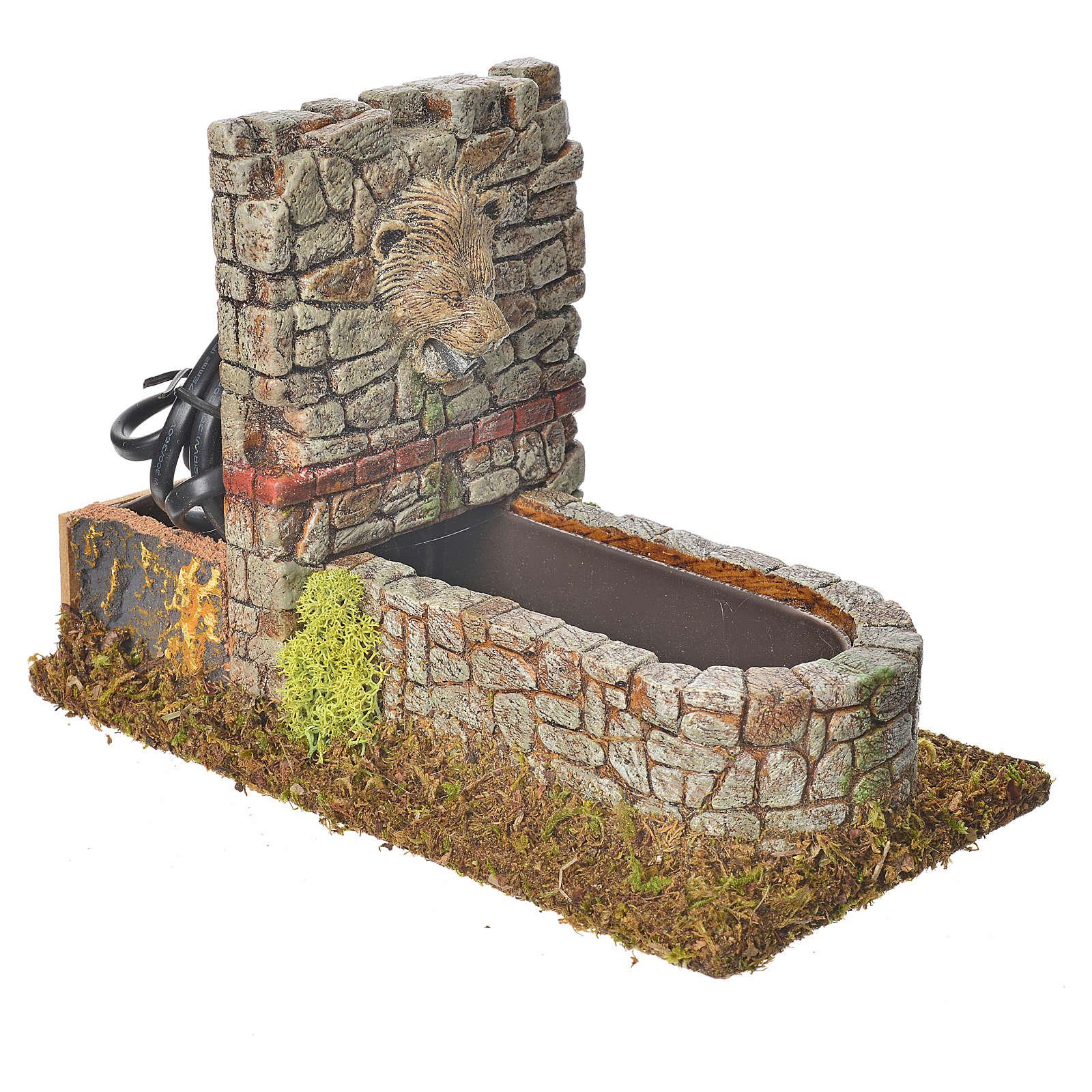 Fuente romana en resina escenografía belén 4
