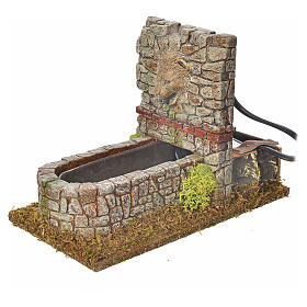 Fontana romana in resina, ambientazione presepe s2