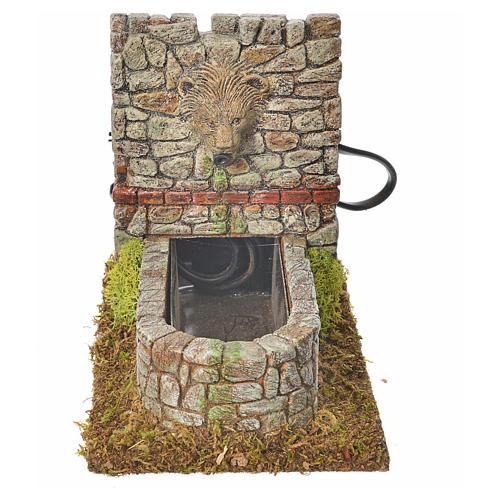 Fontana romana in resina, ambientazione presepe 1