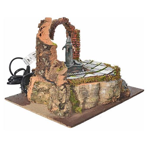Fontana di piazza con 4 getti per presepe 3