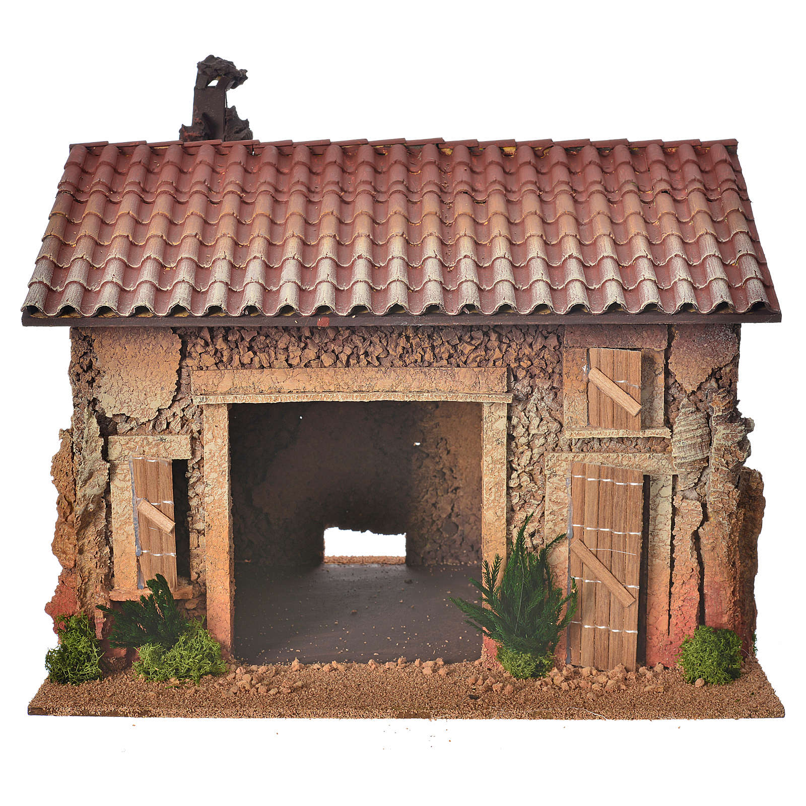 Nativity setting, empty workshop, northern style 35x25x25cm 4