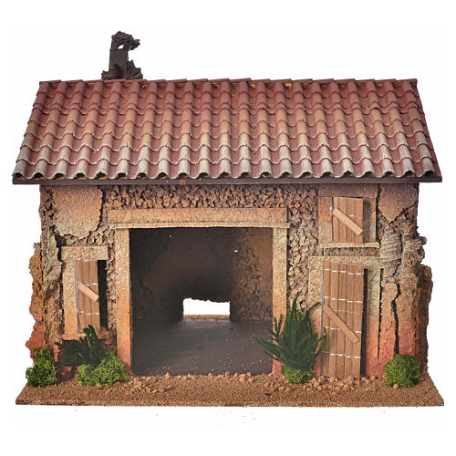 Nativity setting, empty workshop, northern style 35x25x25cm 1