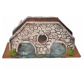 Nativity setting, bridge in terracotta 23x10x10cm s1