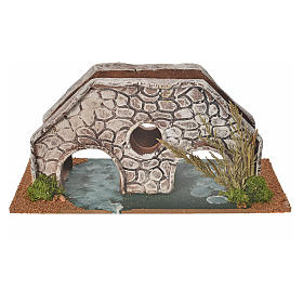 Nativity setting, bridge in terracotta 23x10x10cm s2