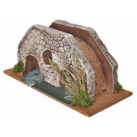 Nativity setting, bridge in terracotta 23x10x10cm s4