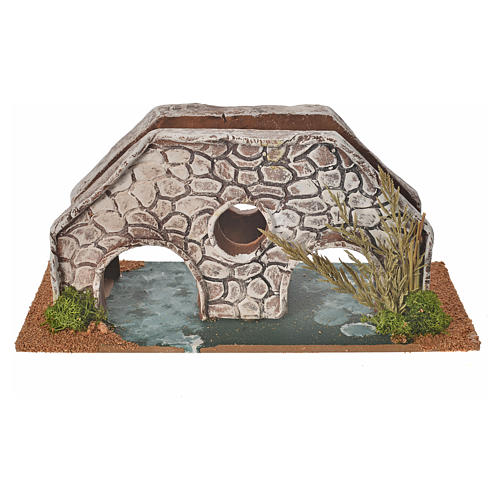 Nativity setting, bridge in terracotta 23x10x10cm 2