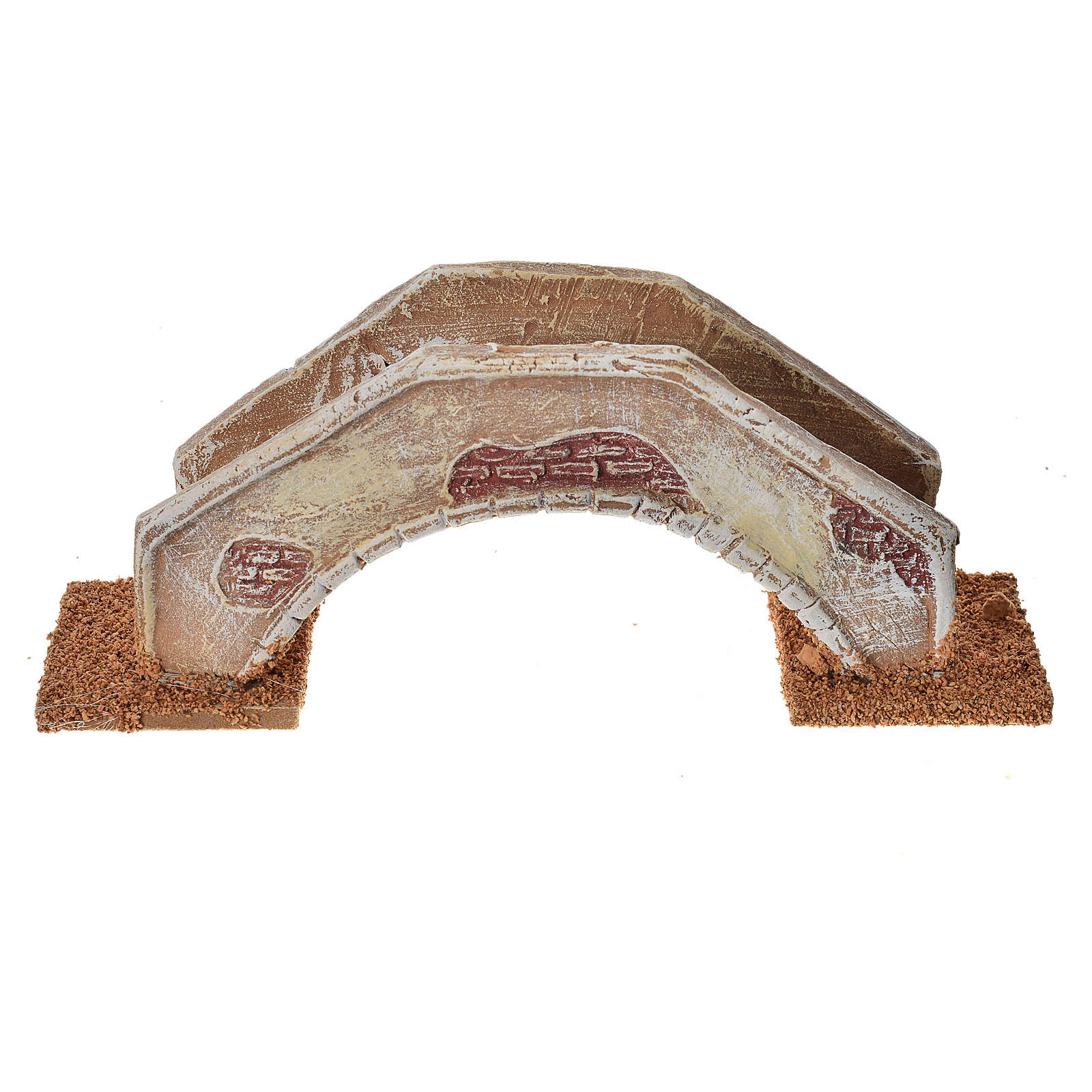 Nativity setting, bridge in terracotta 16x4x6cm 4