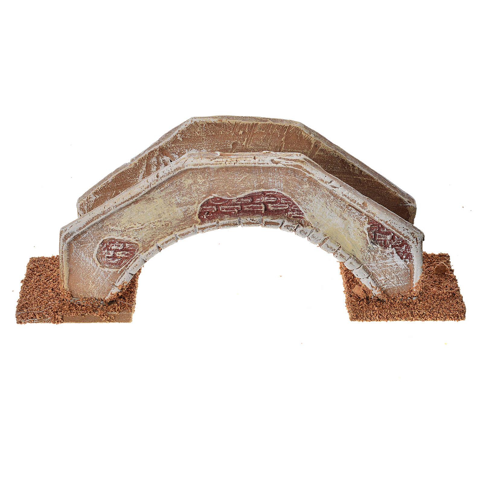 Pont en arc pour crèche 16x4x6 cm  terre cuite 4