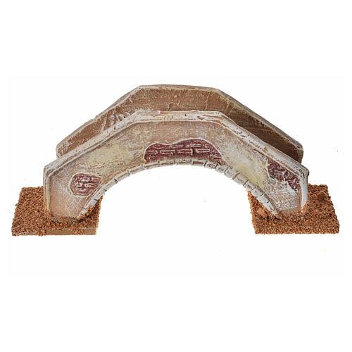 Pont en arc pour crèche 16x4x6 cm  terre cuite 1