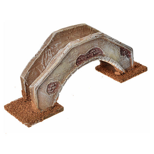 Pont en arc pour crèche 16x4x6 cm  terre cuite 2