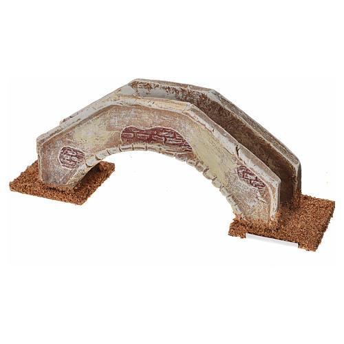 Pont en arc pour crèche 16x4x6 cm  terre cuite 3