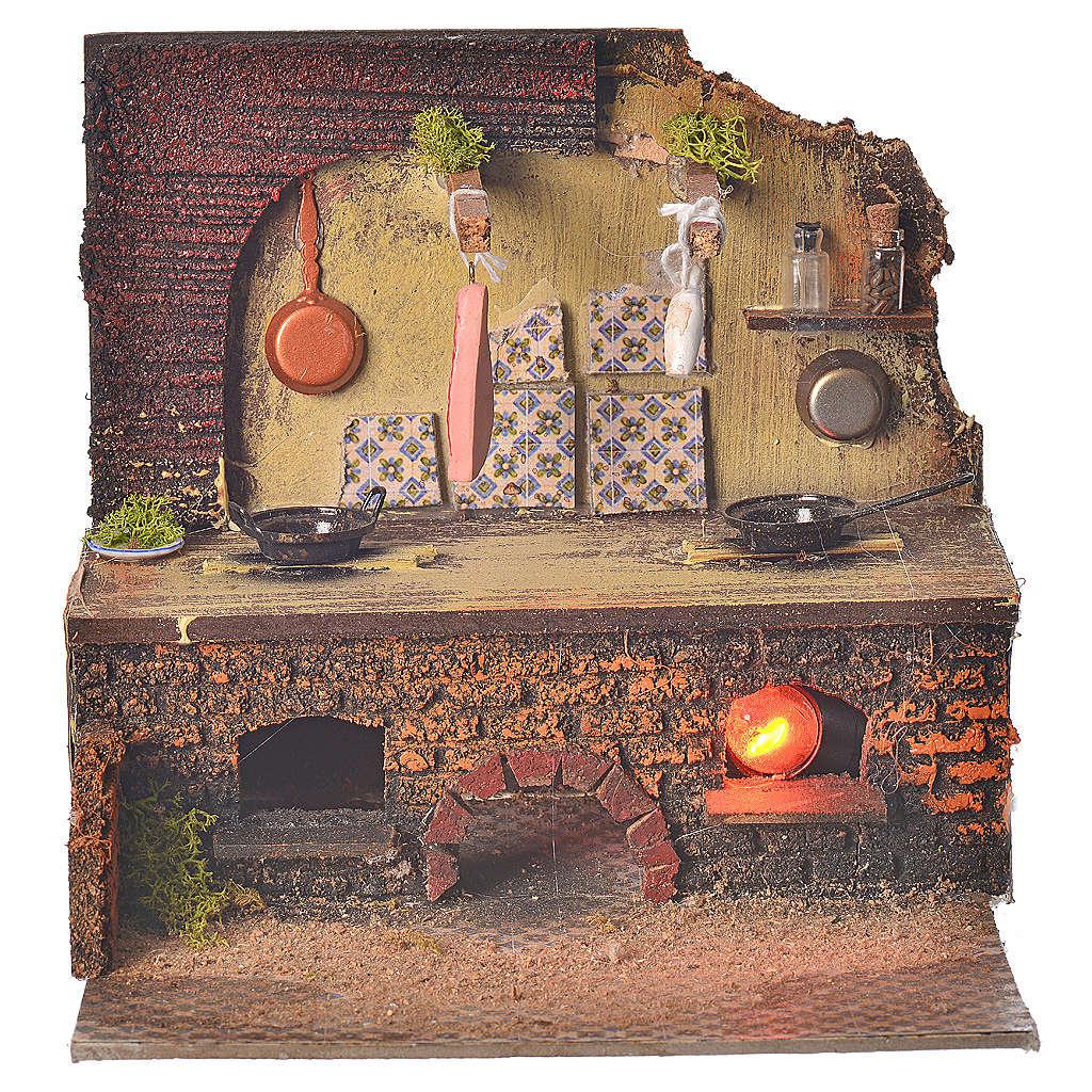 Cucina presepe 22x24x21 cm 4