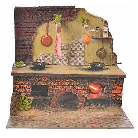 Cucina presepe 22x24x21 cm s5