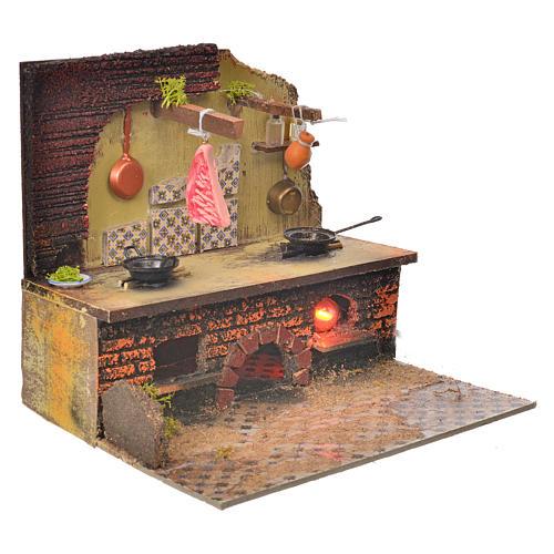 Cucina presepe 22x24x21 cm 6