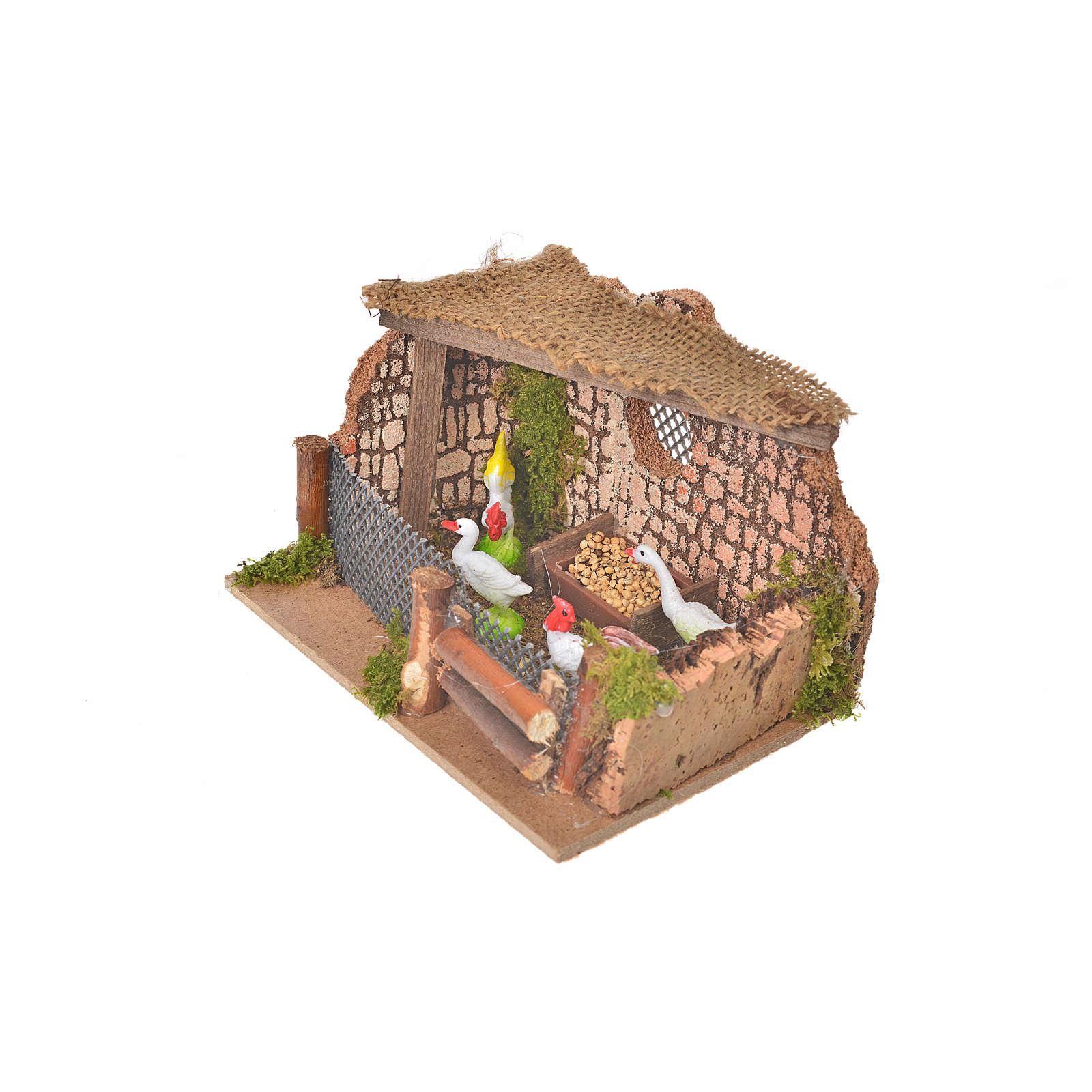 Clôture avec coq et poules 11x15x10cm 4