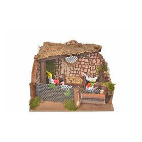 Clôture avec coq et poules 11x15x10cm s4