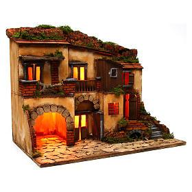 Escenografía Belén Napolitano estilo 700 con horno s3
