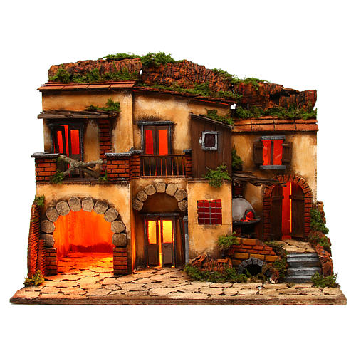 Escenografía Belén Napolitano estilo 700 con horno 1