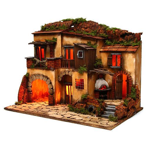 Escenografía Belén Napolitano estilo 700 con horno 2