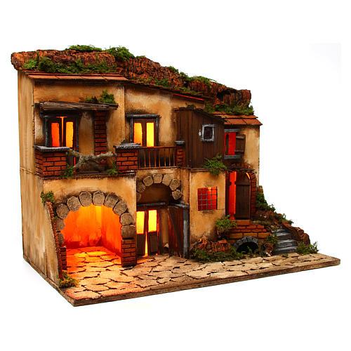 Escenografía Belén Napolitano estilo 700 con horno 3