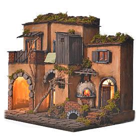 Borgo presepe napoletano stile 700 con forno s3