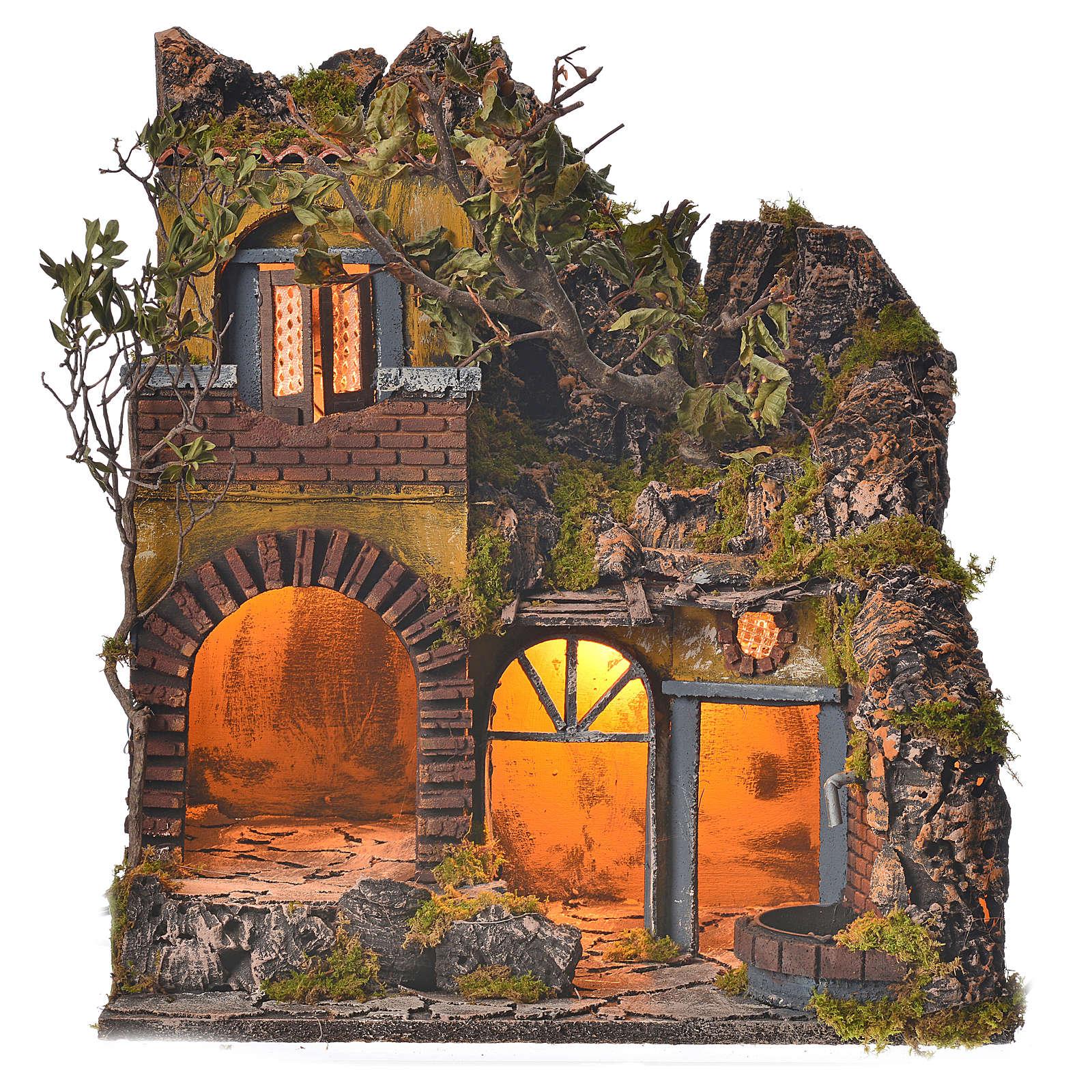 Borgo presepe napoletano stile 700 con fontanella 4