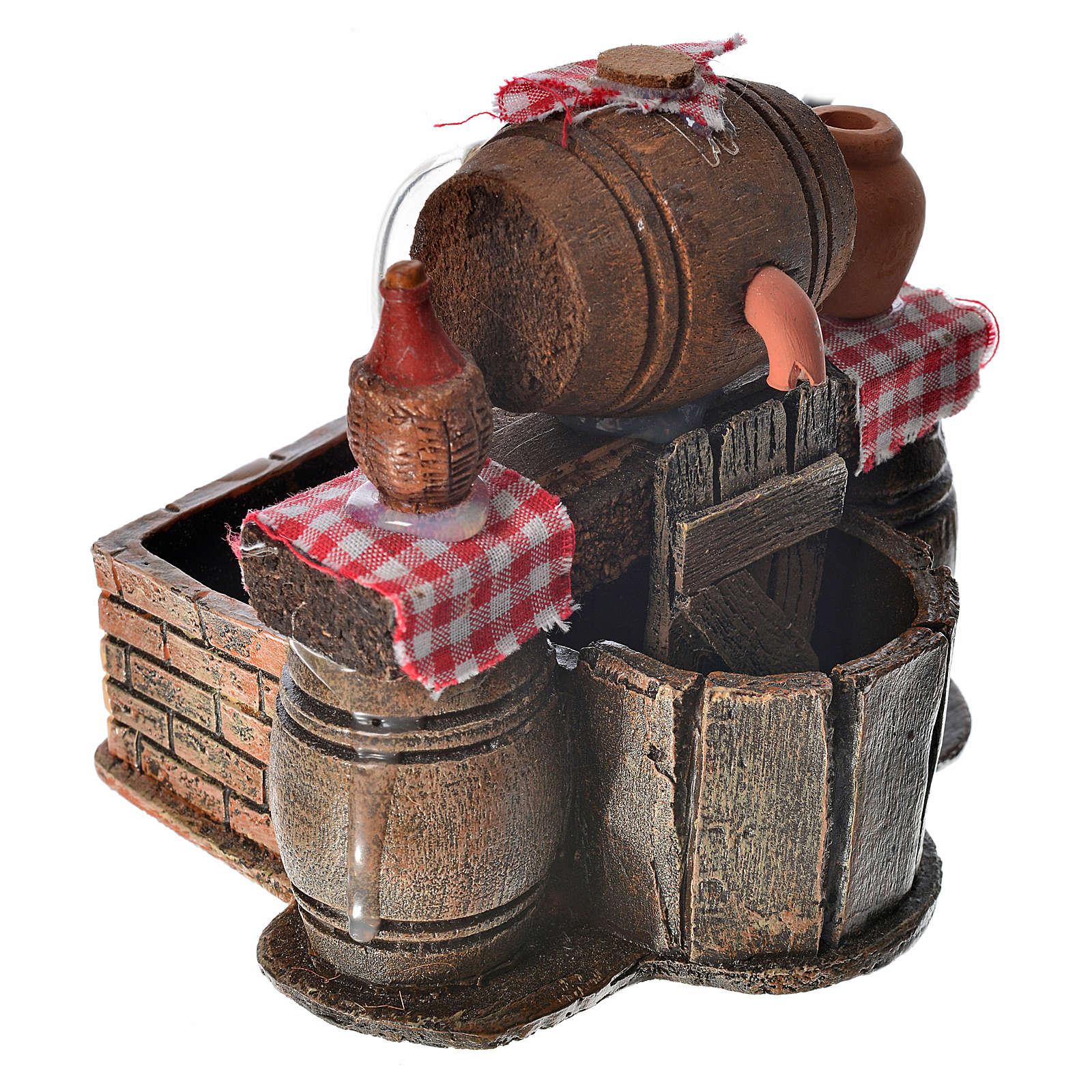Bodega con barriles escenografía belén con bomba de agua 9x12x10 4