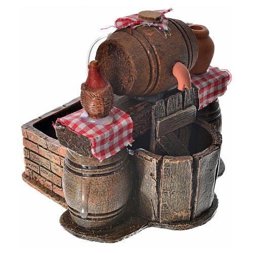 Bodega con barriles escenografía belén con bomba de agua 9x12x10 2