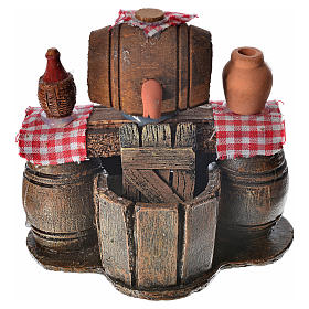 Neapolitan nativity setting, cellar with cask and water pump 9x1 s1
