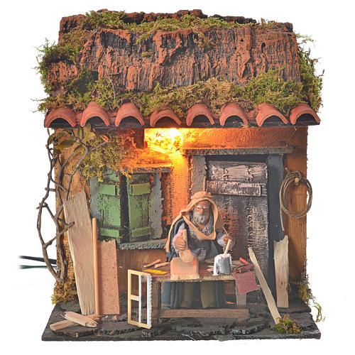 Bûcheron 10 cm crèche napolitaine animation 1