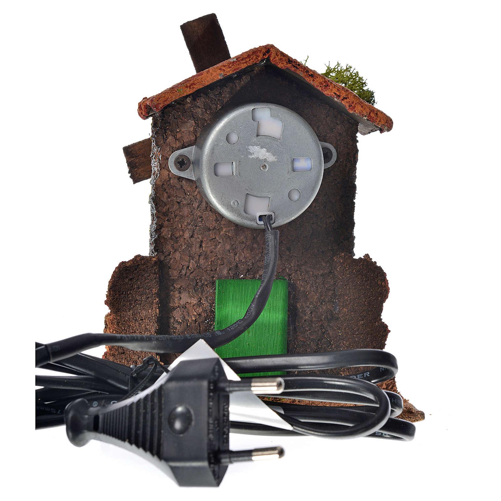 Moulin à vent bois et liège 12x10x6 cm 4