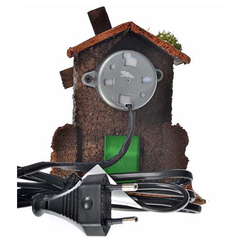 Moulin à vent bois et liège 12x10x6 cm 2
