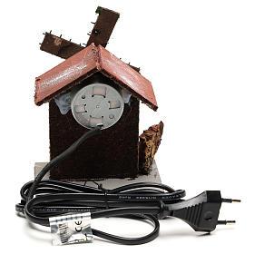 Moulin à vent crèche 12x10x6 cm bois et liège s4