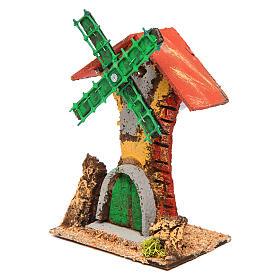 Windmühle Dimensionen 12x10x6 cm, aus Holz und Kork s2