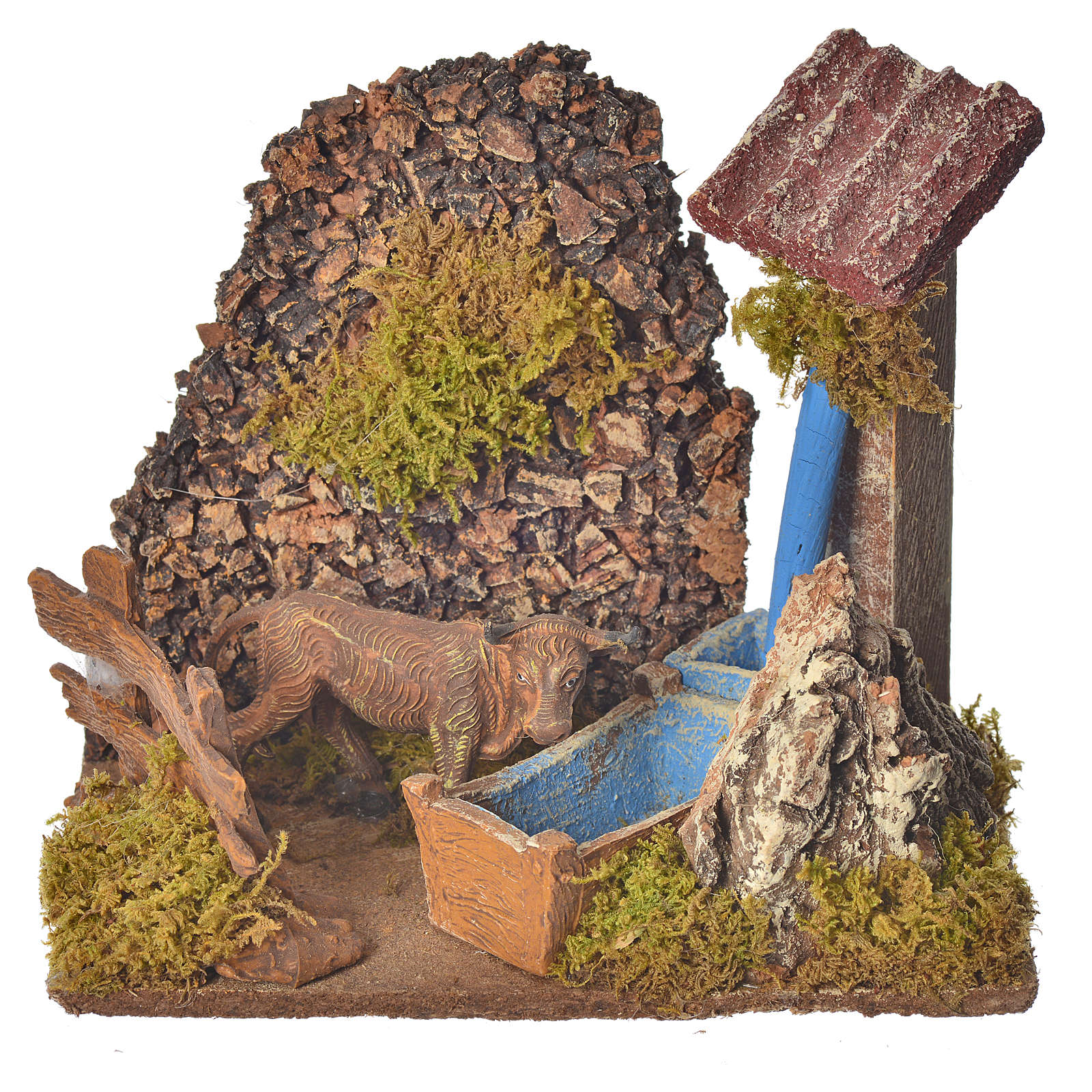 Nativity accessory, washtub with pump 20x14x20cm 4