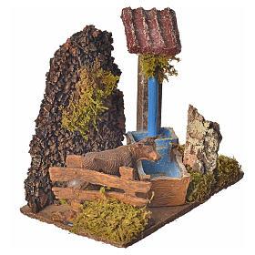 Nativity accessory, washtub with pump 20x14x20cm s6