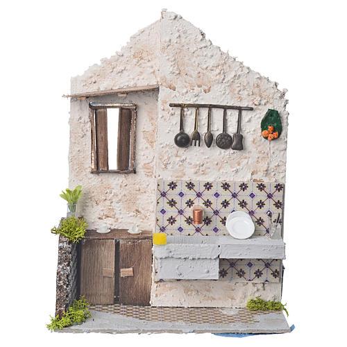 Nativity accessory, washtub with pump 20x14x20cm 1
