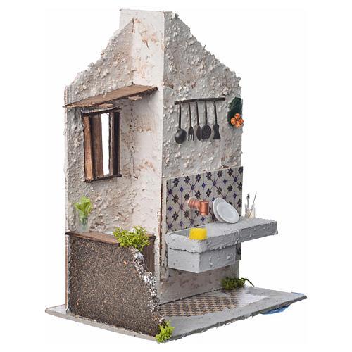 Nativity accessory, washtub with pump 20x14x20cm 2