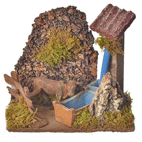 Nativity accessory, washtub with pump 20x14x20cm 5